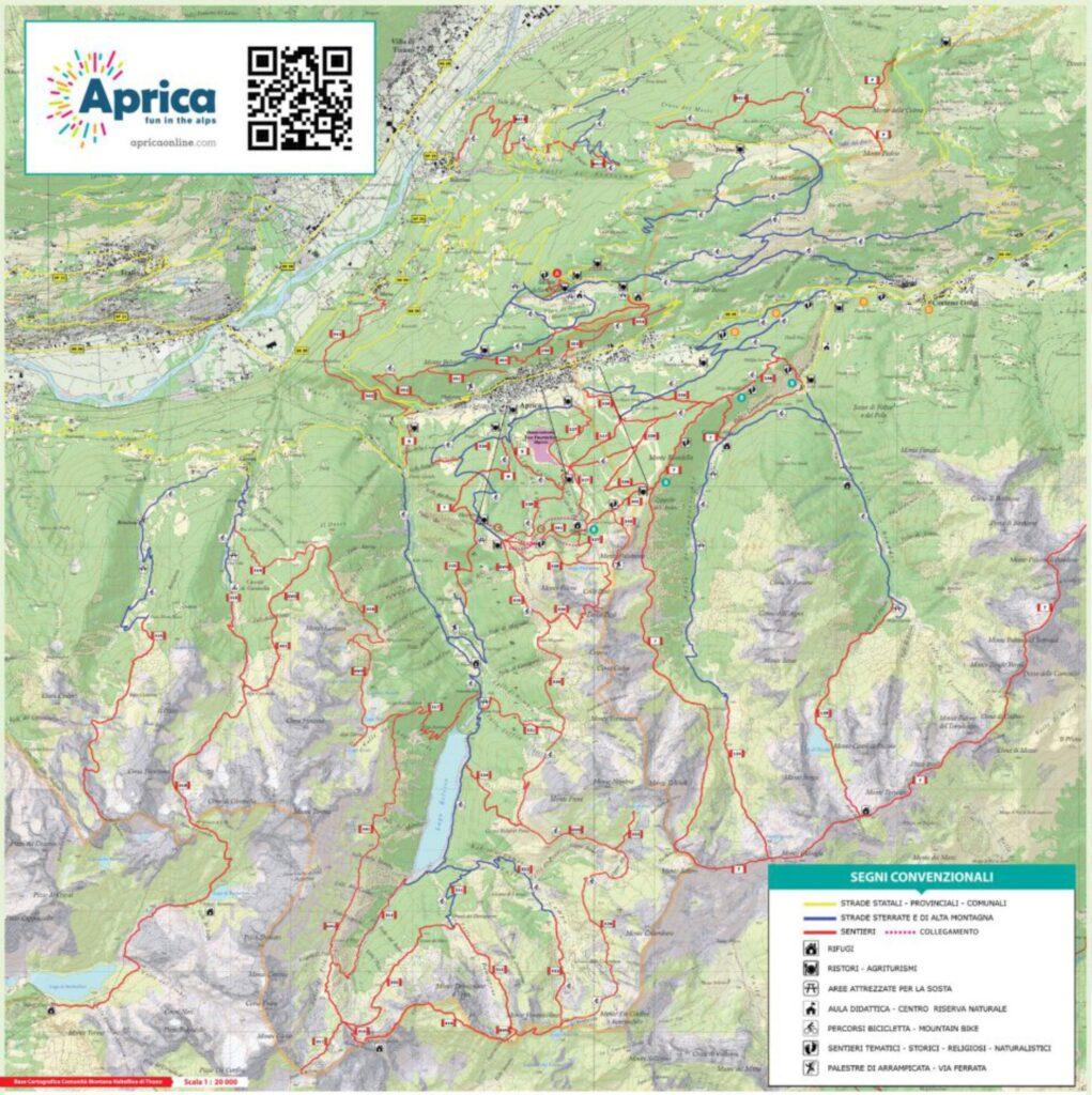 Cartina sentieri Aprica apricaonline.com