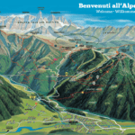 cartina Mappa Moena Alpe Lusia