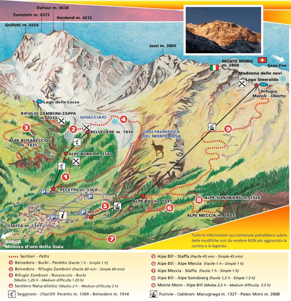 Cartina estate macugnaga